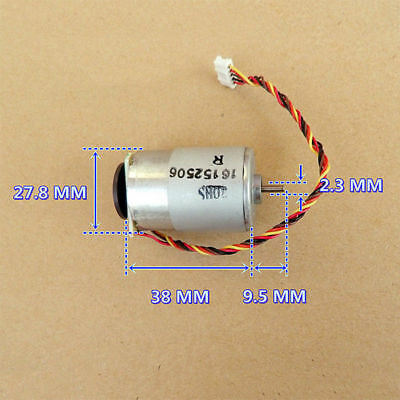 RS-385 Motor DC 12V-24V 5300RPM-10800RPM With Speed Feedback/Encoder Disk/Gear S 4