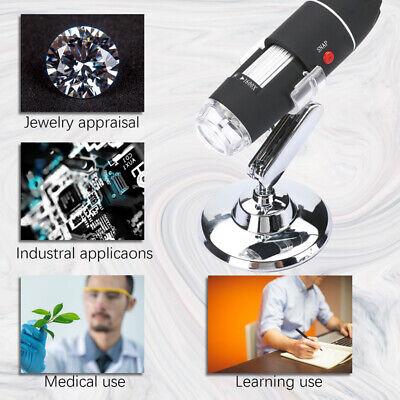 1600X Zoom 3in1 HD 1080P USB Microscope Digital Magnifier Endoscope Video Camera 9