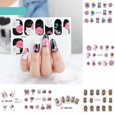 Fashion Nail Art Transfer Stickers 3D Manicure Tips Decal DIY Decorations Tools 3