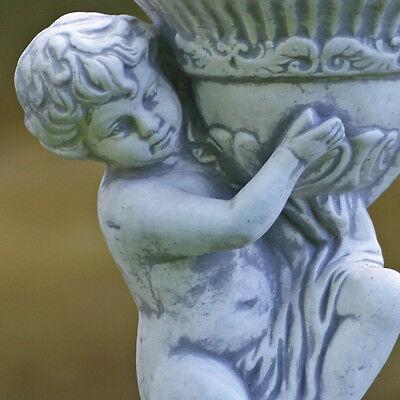 Skulptur Mädchen mit Schirm Dekoration Haus winterfest Figur Garten