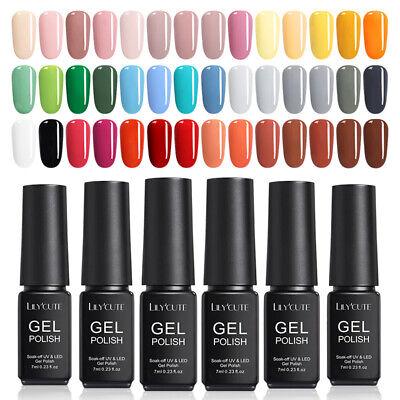 146Colors LILYCUTE Gel Nail Art Polish Soak Off UV LED Gel Nail Varnish Tool 7ml 5