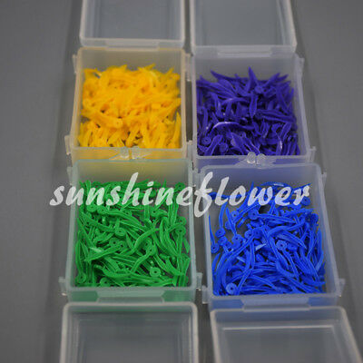 100 Pcs Dental Poly-wedge Available Plastic With Holes Disposable Wave Shape 2