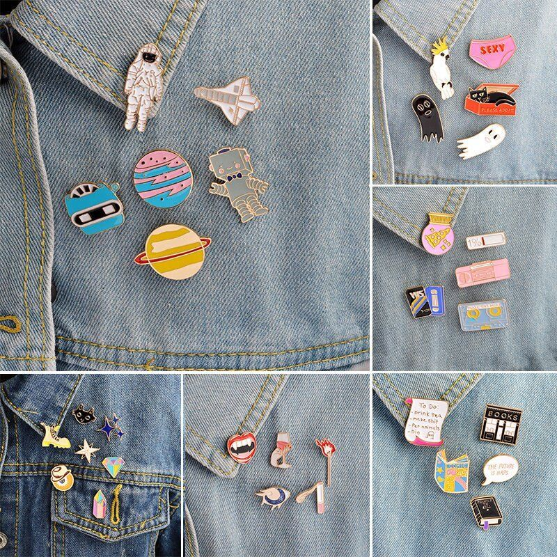 New Lovely Cute Cartoon Enamel Lapel Collar Pin Corsage Brooch Fashion Jewelry 3