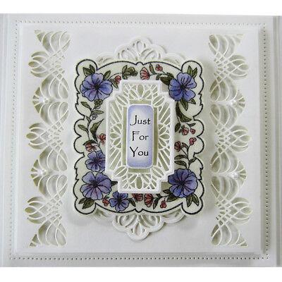 Retro Floral Lace Corners Edge Cutting Dies Stencil Scrapbooking Embossing DIY 9