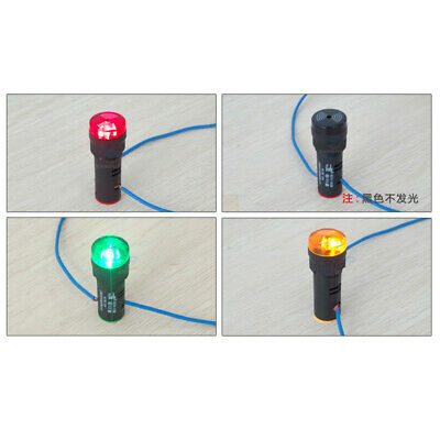 16 22mm LED Flash Warning Indicator Buzzer Alarm Signal Light 12V 24V 110V 220V 3