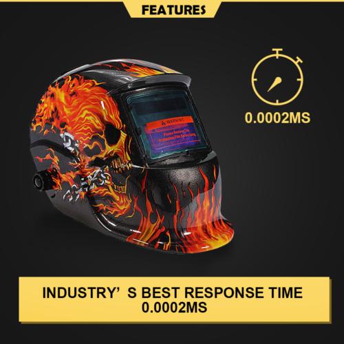 Pro Mask Solar Auto Darkening Welding Helmet Arc Tig Mig Skull 4