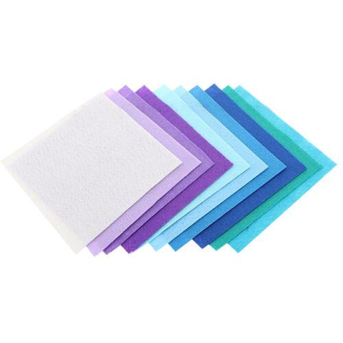 40pc /set Stoffa colorata in feltro non tessuto fatto a mano 40 fogli 15 * 15 cm 3