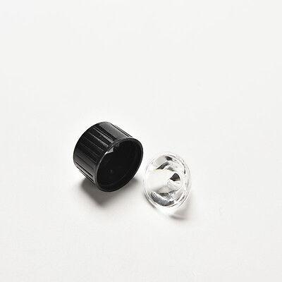10pcs 5degree led Lens for 1W 3W High Power LED with screw 20mm Black holder Pip