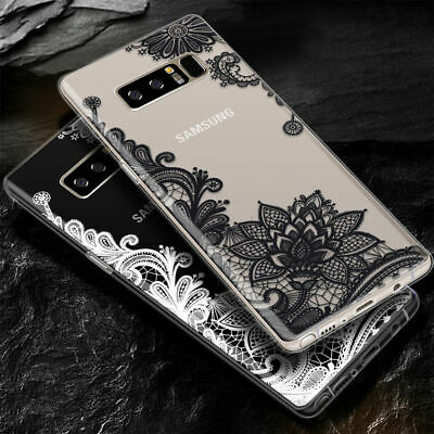 Galaxy Note 10 Plus 10+ S10e S10+ Case Mandala Lace Clear Bumper Cover F Samsung 10
