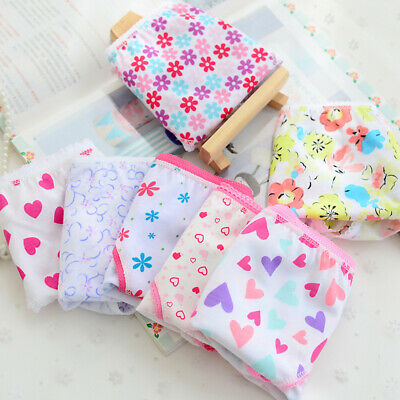 6pcs/Lot Baby Kids Girls Underpants Cotton Panties Child Underwear Short Briefs 4