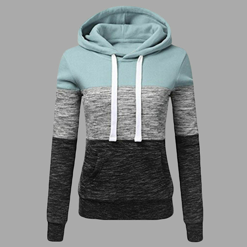 Women's Casual Hoodies Sweatshirt Ladies Hooded Long Sleeve Tops Jumper Pullover 6
