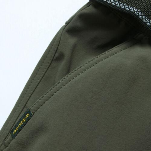 Men's Thermal Winter Pants Fleece Lined Elasticated Work Cargo Combat Trousers 4
