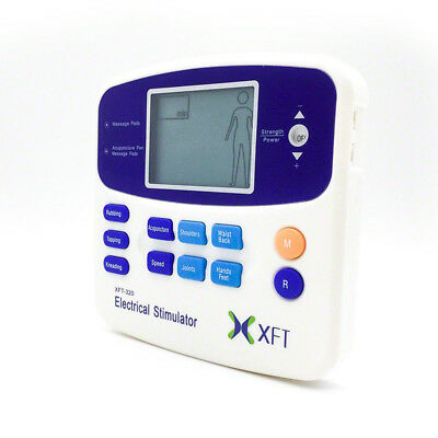 Electrical Physio Tens Machine XFT-320A Massager Tens/Back Pain/4 PADS ARTG 9