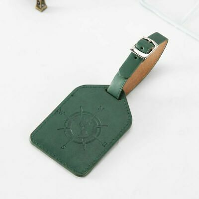 Leather Luggage Tag Travel Suitcase Bag ID Tag Address Label Baggage Card Holder 10