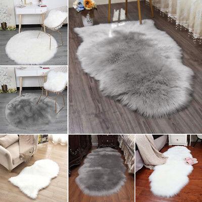 Flauschige Schaffell Lammfell Weichen Shaggy Bereich Teppich