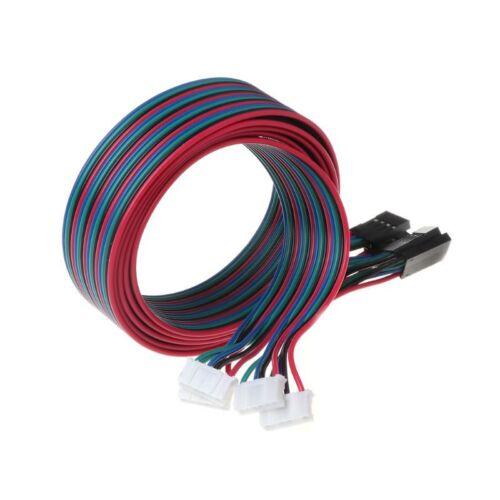 4pcs 100cm 4pin Stepper Motor Wire Cables XH2.54 Terminal For 3D Printer NEMA 17 3