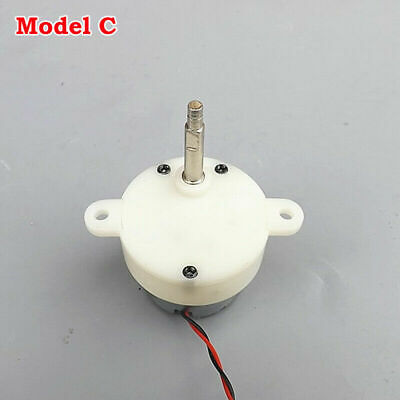 2X DC 5V 6V 9V 12V Worm Turbine Gear Motor 60 RPM Long Shaft Slow Gear Motor