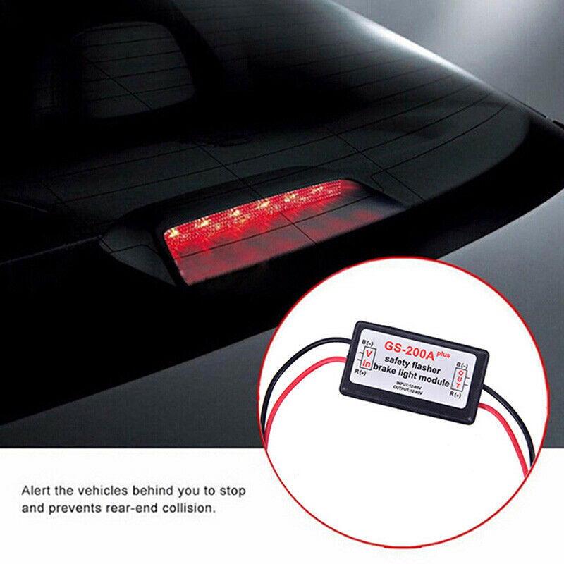 Vehicle Car GS-200A  LED Brake Stop Light Strobe Flash Module Controller Black - 4