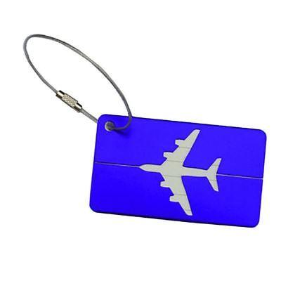 Aluminium Travel Luggage Tag Baggage Suitcase Bag Identity Address Name Labels 7