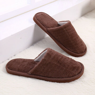 Men Cotton Plush Warm Slippers Home Indoor Winter Slippers Shoes 5