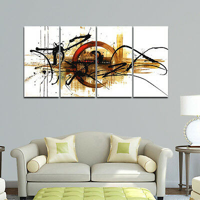 Framed Original Modern Abstract Hand Paint Oil Painting on Canvas Home Art Decor 2
