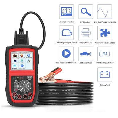 NEW OBD2 EOBD Diagnostic Scan tool Car Battery Tester Charger 12V AUTEL AL539B