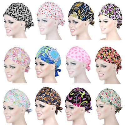 72 Kinds Men Women Doctor//Nurses Printing Scrub Cap Medical Surgical Surgery Hat