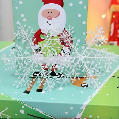 12/30/ 60pcs Classic White Snowflake Ornaments Christmas Tree Party Home Decor F 6