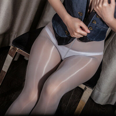 High Gloss Pantyhose Tights Elastic Oil Shiny Glossy Stockings Hosiery Plus Size 7