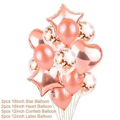 Rose Gold Happy Birthday Bunting Banner Balloons 18/21st/30/40/50/60 Party Decor 3