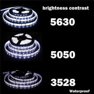 5M 10M 15M 20M 12V 3528 5050 5630 LED Flexible Strip Light Warm White Tape 4