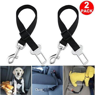 2 Pack Cat Dog Pet Safety Seatbelt for Car Seat Belt Adjustable Harness Lead 2