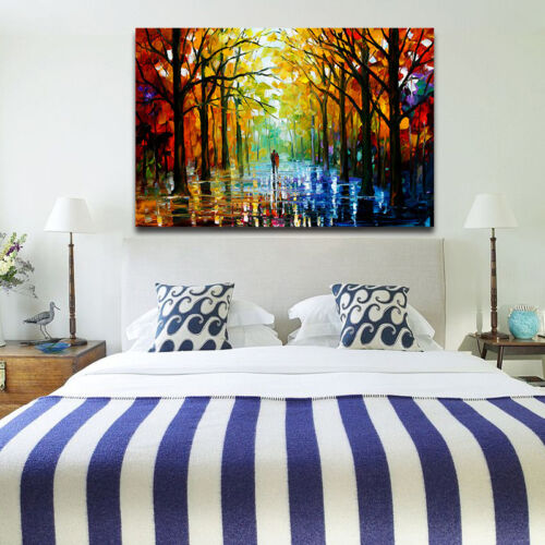 Leonid Afremov Tree Forest Grove Art Wall Painting Print Picture Room Wild Decor