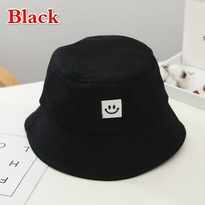 Unisex Foldable Smile Bucket Hat Outdoor Sunscreen Cap Smile Face Fisherman Hats 7