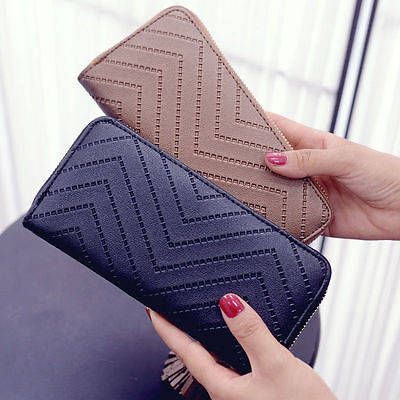 Girl Women Lady PU Leather Clutch Wallet Long Card Holder Purse Handbag Bag 4