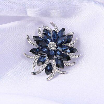 Fashion Rhinestone Crystal Flower Plant Bridal Bouquet Enamel Brooch Pin Jewelry 11
