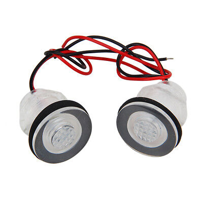 2x 12V 38mm LED Light Boat Marine RV Courtesy Livewell Waterproof Submersible