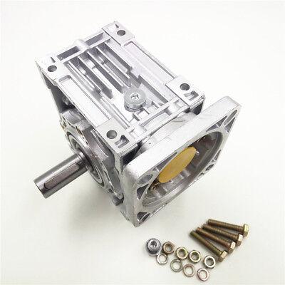 Worm Gear Reducer RV040 NEMA24/34 Speed Gearbox 10 15 20 25 30 40 50 60 80 100:1 4