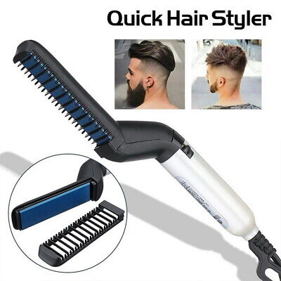 Quick Beard Straightener Multifunctional Hair Comb Curling Curler For Man Show 3