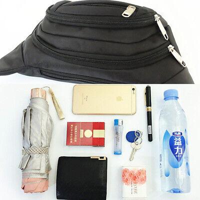 New Fanny Pack Mens Womens Waist Hip Belt Bag Purse Pouch Travel Sport Bum Nylon
