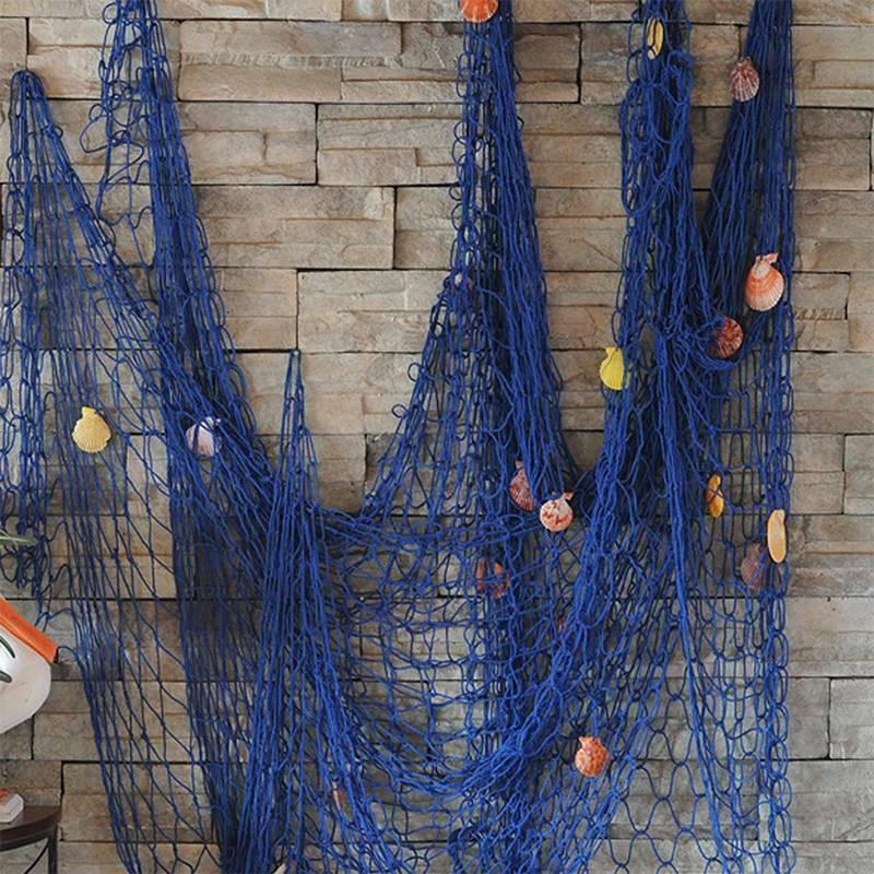 Deko Fischernetz mit Muscheln für maritime Deko 1x2 m Reise Strand Urlaub Meer