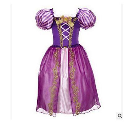 Belle Filles Robe de Princesse Déguisement Rapunzel  Cendrillon Sofia Cosplay 10