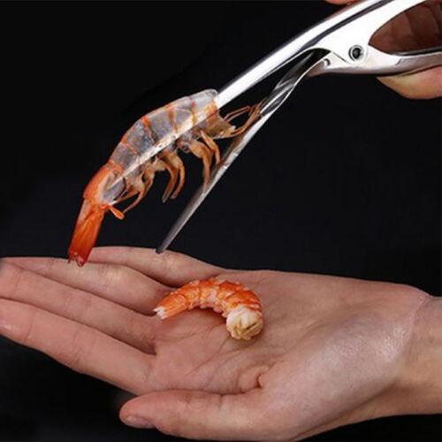 En Acier Inoxydable éplucheur Crevettes Pinces Cuisine Outils Rapidement Commode 4