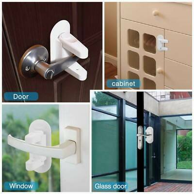 Baby Safety Door Lock Kids Child Safety Proof Door Locks Adhesive Handle Lever 2