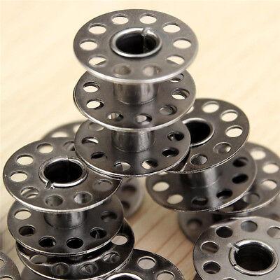 10 Bobines Canette en Metal Pour Fil de Machine à Coudre canettes 3