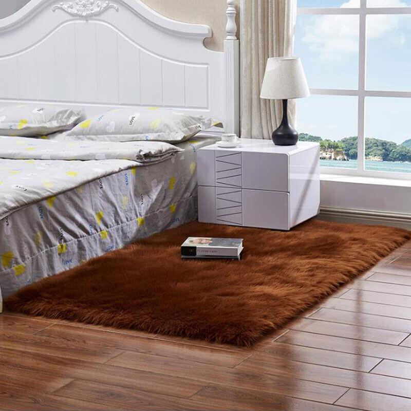 Washable Fluffy Rug Anti-Skid Shaggy Rugs Carpet Living Room Bedroom Floor Mats 6