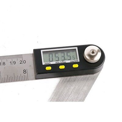 "Stainless Steel 300mm Digital Protractor Inclinometer Electronic Angle Gauge 12"" 2"