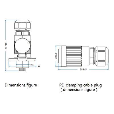 CNLINKO 9 Pin Power Signal Connector Male Plug & Female Socket Waterproof IP67