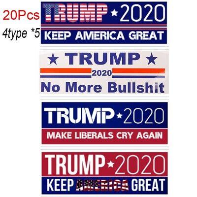 20X Trump 2020 Bumper Sticker Keep Make America Great Make Liberals Cry Again Bu 3