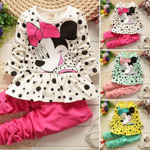 Kinder Kleidung Baby Mädchen Winter Karikatur Sweatshirt Hose 2Tlg Outfit Set 4